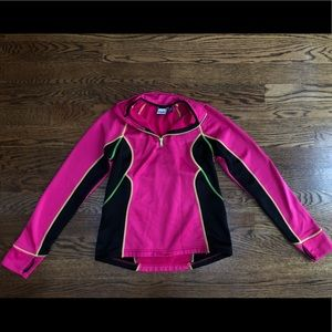 Pink FILA quarter zip womans sweater